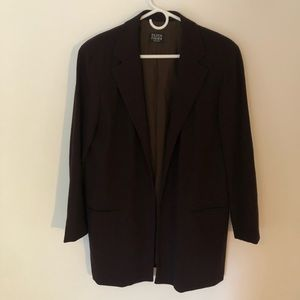 Eileen Fisher Crepe Brown Blazer with Lapel